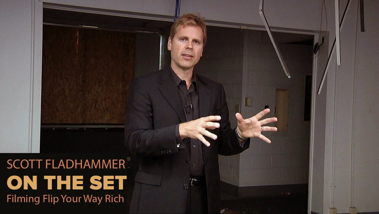 """On the set filming reality show """"Flip Your Way Rich"""" is Scott FladHammer"""
